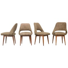 Set of Four Saarinen Style Dining Chairs