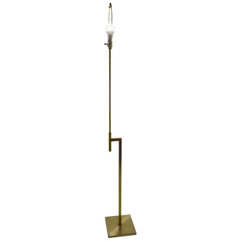 Adjustable Brass Floor Lamp by Laurel