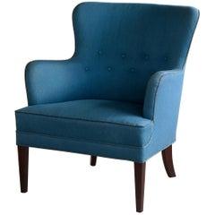 Classic Frits Henningsen Lounge Chair Danish Midcentury