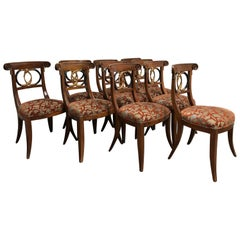Chinoiserie Wood Frame Side Chairs, Set of Ten