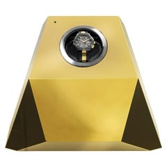 Diamond Watch Winder with Gold Leaf Finish by Boca Do Lobo