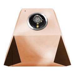 Diamond Watch Winder with Copper Leaf Finish by Boca Do Lobo
