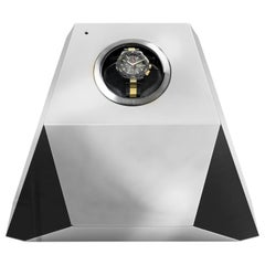 Diamond Watch Winder with Silver Leaf Finish by Boca Do Lobo