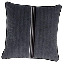 Brabbu Versicolor Pillow in Black Velvet with Stripe