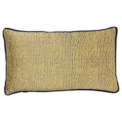 Brabbu Wachuma Pillow in Yellow Twill with Black Trim