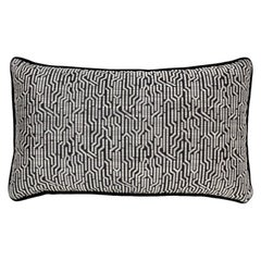 Brabbu Wachuma Pillow in Black Twill with Geometric Pattern