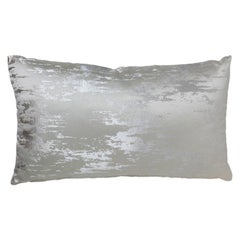 Brabbu Ijsberg Pillow in Silver Satin