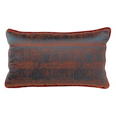 Brabbu Mauna Loa Pillow in Burnt Auburn Twill