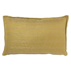 Brabbu Timberline Pillow in Yellow Twill with Zig Zag Pattern