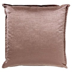 Brabbu Theravada Pillow in Warm Taupe Satin