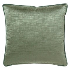 Brabbu Venae Pillow in Green Satin