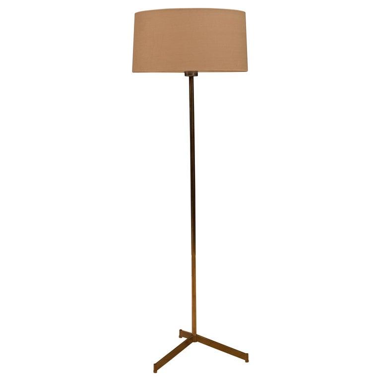 Midcentury Tripod Brass Floor Lamp