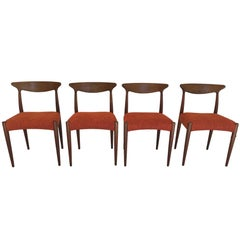 Set of Four Teak Dining Chairs by Arne Hovmand Olsen for Mogens Kold