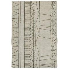 Brabbu Cuzco Hand-Tufted Dyed Wool Rug in Geometric Pattern