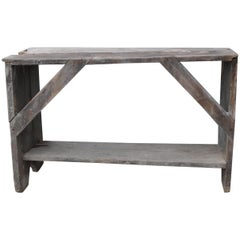 Hungarian Water Bench with Worn Patina