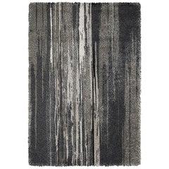 Brabbu Inuk Tencel Handgetufteter Teppich in Braun und Schwarztönen