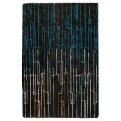 Brabbu Kasai Tencel Handgetufteter Teppich in Blau und Braun