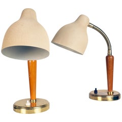 Pair of Table Lamps Made by EOS, Sweden, 1940s
