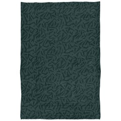 Brabbu Kubeo Hand-Knotted Dyed Wool Rug in Forest Green