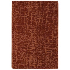 Brabbu Himba Hand-Knotted Dyed Wool Rug in Red Amber