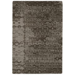 Brabbu Igbo Hand-Knotted Dyed Wool Rug in Green Gradient