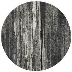 Brabbu Inuk Kreisförmiger Handgetufteter Tencel Teppich II in Braun- & Schwarztönen