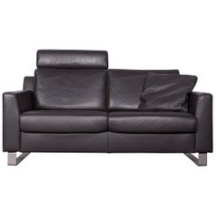 Ewald Schillig Designer Sofa Brown Couch Leather