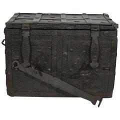 17th Century Spanish Iron with Wood Strongbox
