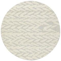 Brabbu Wari Kreisförmiger Getufteter Tencel Teppich II in Sand