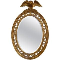 19th Century Oval Gilt Mirror