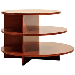 Round Cherrywood Side Table Designed in the Late 1920s by Giuseppe Terragni