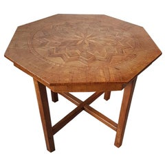 Early 20th Century Dutch Eight Corner Centre Table with Intarsia