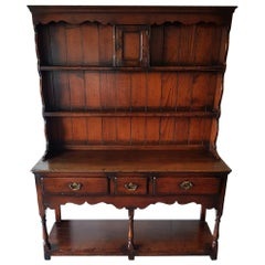 20th Century Antique Style English Oak Dresser Probably Titchmarsh Goodwin
