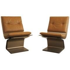 Pair of Slipper Chairs by Maison Jansen
