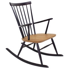 Violet Rocking Chair by Roland Rainer Vienna, circa 1958
