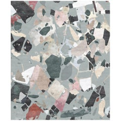 Moulin Rouge Contemporary Abstract Hand-Knotted Multicolored Large Rug