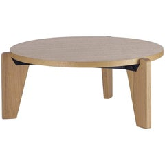 Jean Prouvé Guéridon Bas Coffee Table in Natural Oak for Vitra