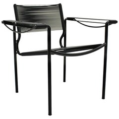 Black Spaghetti Armchair by Giandomenico Belotti for Alias, Italy, 1980s
