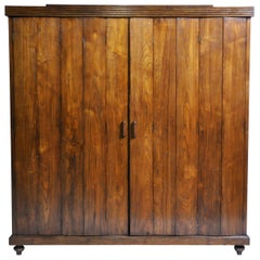 Art Deco Cabinet with Five-Panel Folding Doors from Burma