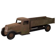 Antique Die Cast Steel Sctructo Toy Truck c. 1920