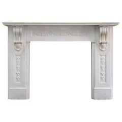 Substantial Early Victorian Statuary Marble Fireplace c.1850