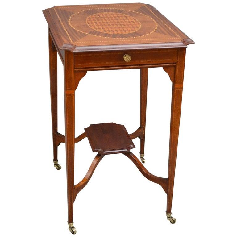 Elegant Edwardian Occasional Table
