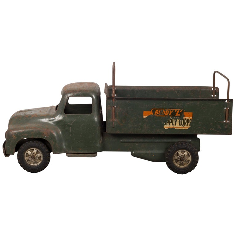 "Die Cast Steel Toy Truck ""Buddy L Army Supply Corps,"" circa 1940"