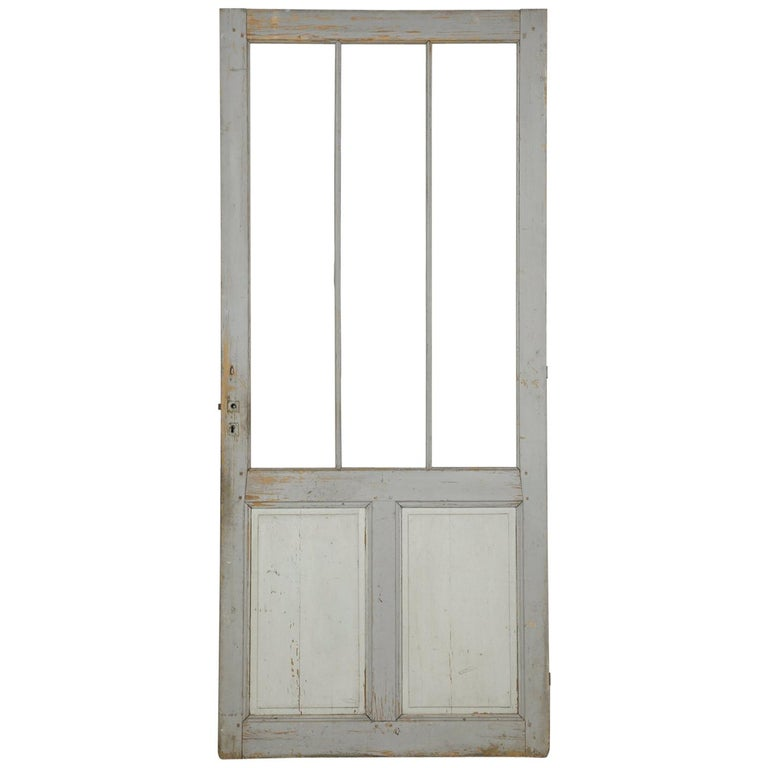 Antique Painted French Door For Sale