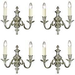Set of Four Regency Style Wall Lights