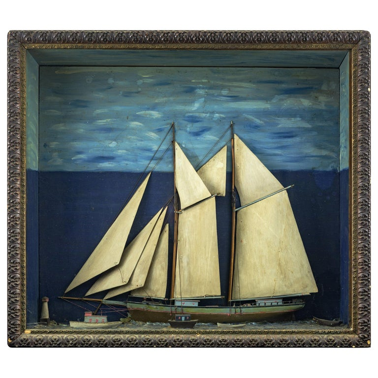 Early 20th Century American Ship Diorama