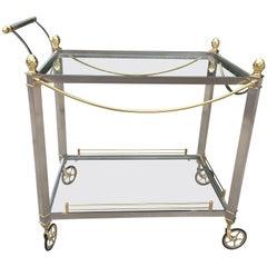 Jansen Style Italian Mixed Metal Bar/Tea Cart