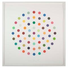 """Cineole"" Round Spot Etching by Damien Hirst"