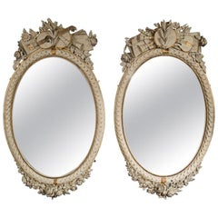 Napoleon III French Oval Mirrors