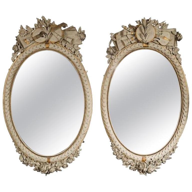 Napoleon III French Oval Mirrors